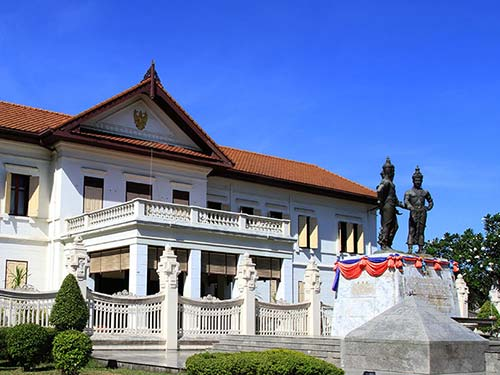 Three Kings Square, downtown of Chiang Mai.