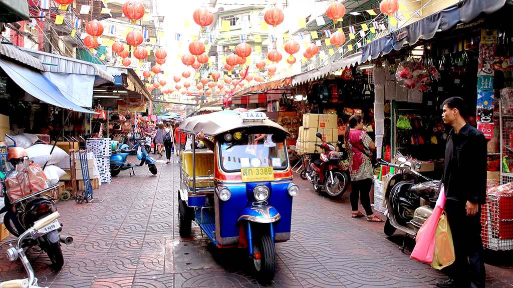 Tuk-tuk en Bangkok.