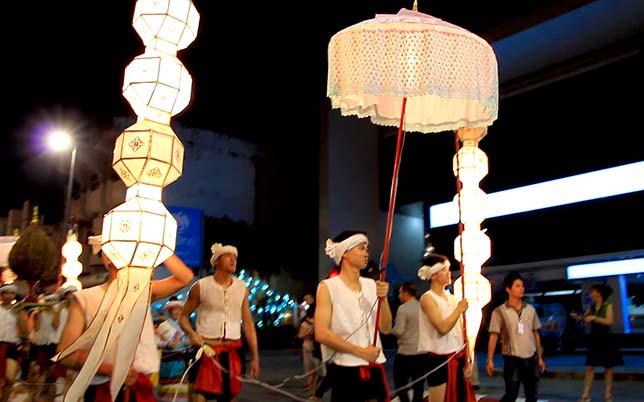 Parade as part of the celebration of Loi Krathong, Chiang Mai.